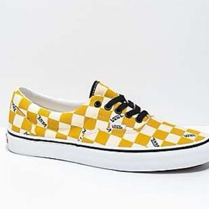 Yellow Checkered Authentic Vans Shoes/ Size 8.5